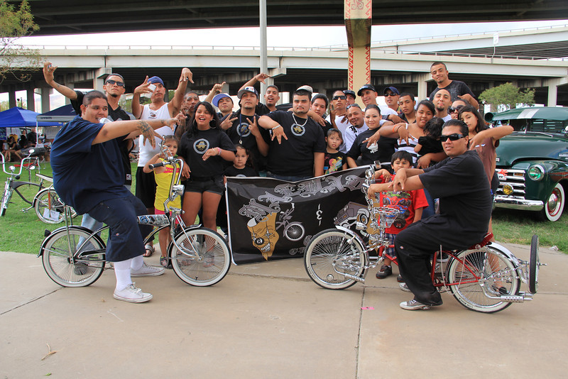 """All the members of """"los malvados"""" bicycle club."""