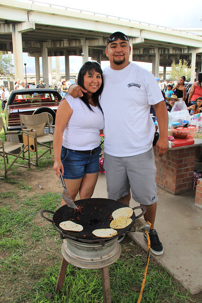 This cordial couple kindly invited me to dine with them after I inquired about the meat they were cooking. I was offered a delicious plate of tacos made from a mixture of beef and chorizzo. The taco was one of the most amazing tacos I have had.