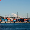 The port and Mt. Ranier