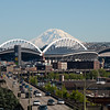 Quest Field (football) and Safeco Field (baseball) with Mt. Ranier in background