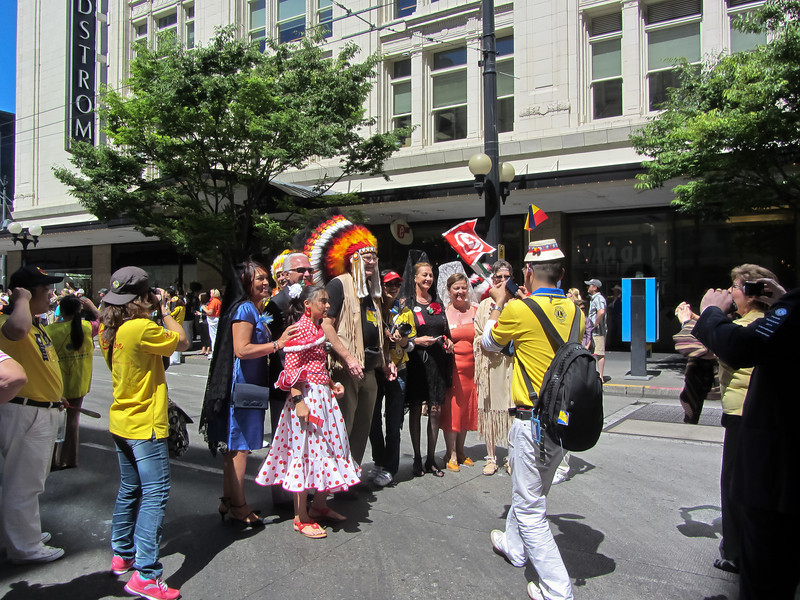 Photo opportunities after the parade