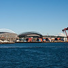 Quest Field (football) and Safeco Field (baseball) with Mt. Ranier