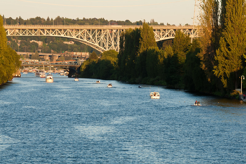 Exiting the Chittenden Locks into Lake Union