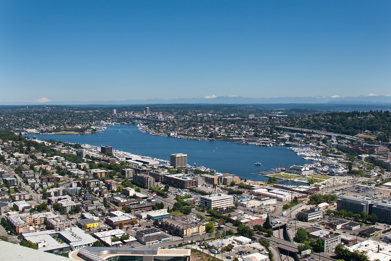 Union Lake from the space needle