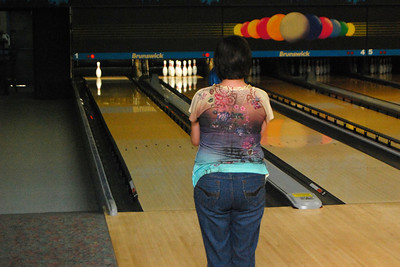 28 The birthday girl is trying for that one last pin