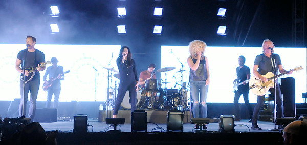 Don Knight | The Herald Bulletin<br /> Country band Little Big Town plays Hoosier Park on Saturday as part of their summer concert series.