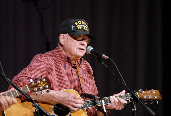 John P. Cleary | The Herald Bulletin<br /> John Gunter sings at the Little Bit Country Jamboree.