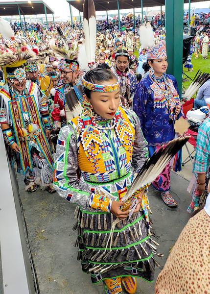 Dancers at Little Shell Powwow, North Dakota  2019