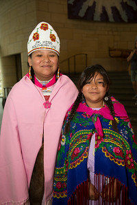 Alexandria (age 10) and Keona (age 9) Jr. Miss Southern Ute