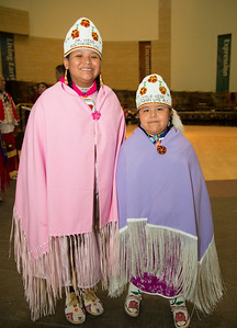 Alexandria (age 10) and Tauri (age 7) Jr. Miss Southern Ute & Little Miss Southern Ute