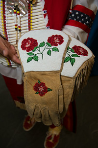 Edward Box III - gloves belonging to his grandfather Southern Ute