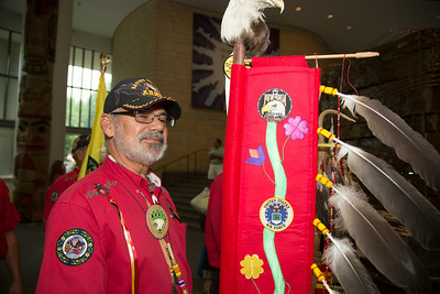 Pokagon Band of Potawatomi Indians Color Guard Jerry Campbell (US Army Vietnam Veteran - 3 Bronze Stars)