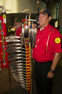 Pokagon Band of Potawatomi Indians Color Guard Anthony Foerster (Panama veteran Silver Star and Purple Heart)