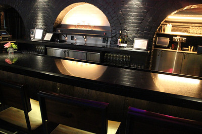 Another view of the bar, where students attend Mixology classes and other events.