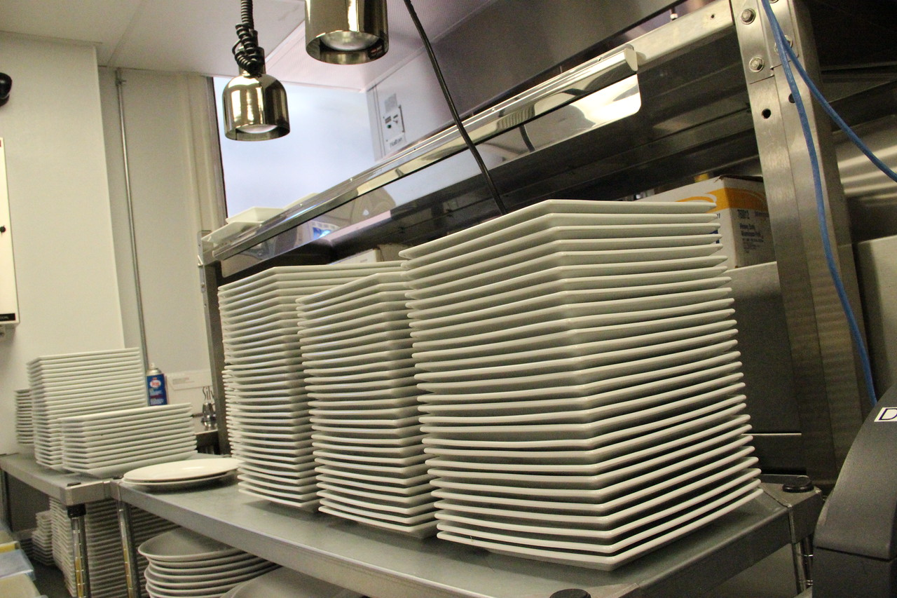In addition to the cooking classroom, a commercial kitchen can prepare meals for hundreds of guests.