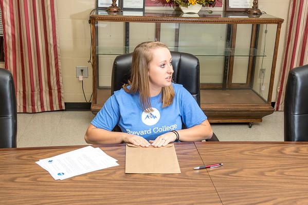 Liz Traxler Brevard Softball Signing 11-17-16