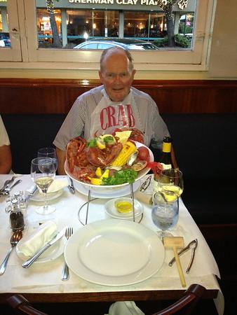 Lobster Dinner at the Walnut Creek Yacht Club, June 2013