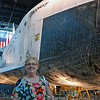 Jean Finkleman and the Shuttle Discovery.