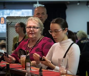 Noranda, Western Australia - Apr 16, 2021: Community member enjoy a fundraising quiz night at the Noranda Sports & Recreation Centre.