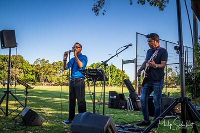 Noranda, Western Australia - Jan 5, 2020: The Noranda Vibes Volunteer Community Group present a free concert  known as the Summer Series at the Noranda Nook.