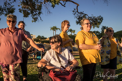 Noranda, Western Australia - Jan 5, 2020: The Noranda Vibes Volunteer Community Group present a free concert  known as the Summer Series at the Noranda Nook.