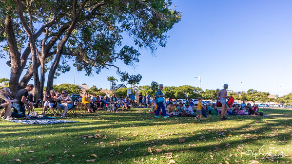 Noranda, Western Australia - Jan 12, 2020: The Noranda Vibes Volunteer Community Group present a free concert  known as the Summer Series at the Noranda Nook.