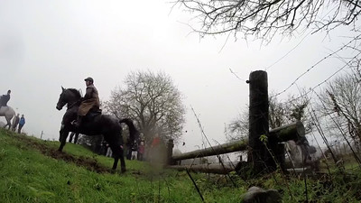 Faller at first fence in the Dunlavin Hunt 26.12.15