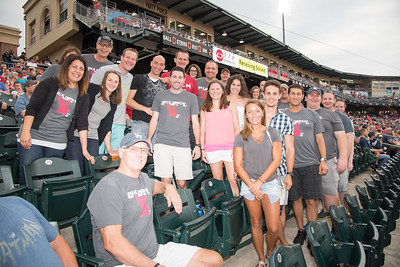 Lock Haven University Alumni Track and Field Club at the Lehigh Valley Iron Pigs August 12, 2017