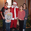 IMG_9391 The Thomas Family with Christine Libby and Santa Claus