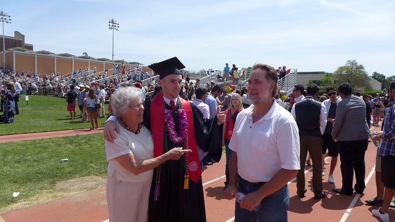 Two fingers Logan's Graduation, Chico, California, 2014.