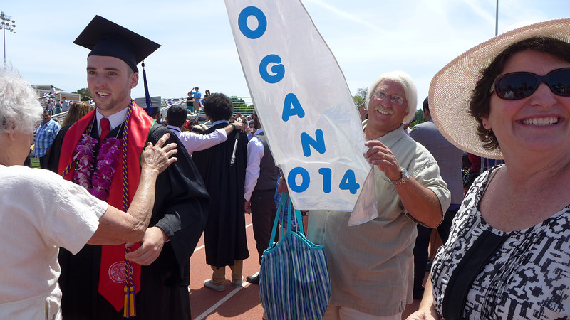 Big smiles from Mom and Dad. Logan's Graduation, Chico, California, 2014.