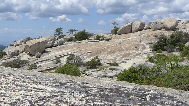 Some careless person threw their boulders down. At Bald Rock, California, 2014.