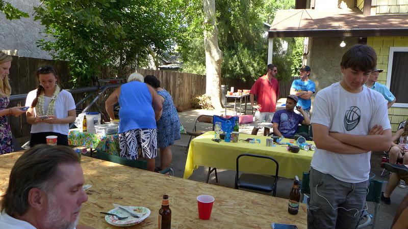 Party at Logan's place, Graduation, 2014.