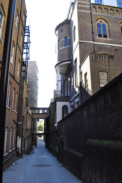 At the back of King's College London (Strand)