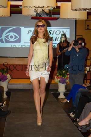 Model on the runway...