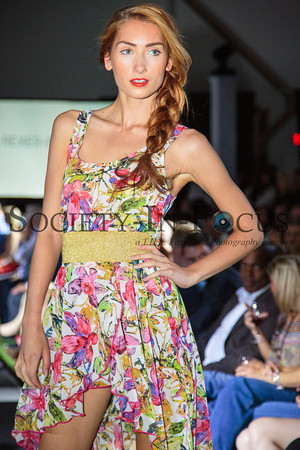 Runway Model in Floral Dress
