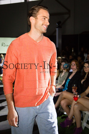 Runway Model in Orange Sweater