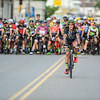 6/24/16 LEOMINSTER with story-  Pro-men rider Anthony Clark rides to the start for Friday's Longsjo Classic in Leominster. Sentinel & Enterprise photo/Jeff Porter