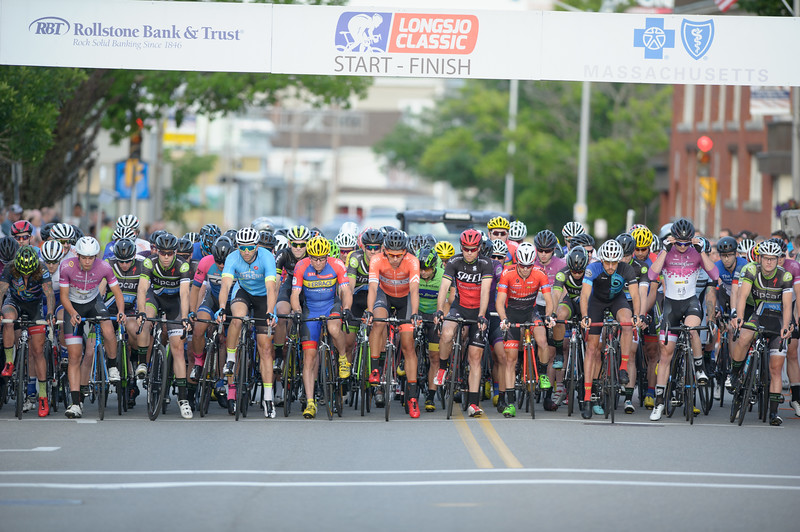 The pro men line up for the Leominster Twilight Criterium race on the opening day of the Longsjo Classic on Friday, June 24, 2016. Sentinel & Enterprise photo/Jeff Porter