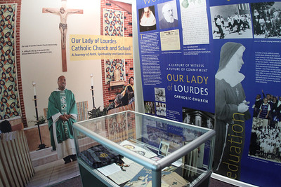 "A historical exhibit entitled ""Our Lady of Lourdes Catholic Church and School: A Journey of Faith, Spirituality and Social Justice"" is on display at the Auburn Avenue Research Library on African American Culture and History, Atlanta, through Feb. 24, 2013.  (Page 1, December 6, 2012 issue)"