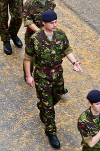 So Ive got another 100 metres to march...