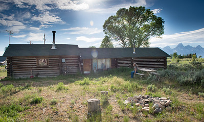 The Bonney Cabin in Kelly, Wyoming.