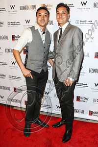 HOLLYWOOD, CA - OCTOBER 08:  Jonnie Houston and Mark Houston arrive at Los Angeles Confidential Magazine Celebrates Their Men's Issue Cover Party with Dennis Quaid at The Residences At W Hollywood on October 8, 2012 in Hollywood, California.  (Photo by Chelsea Lauren/WireImage)