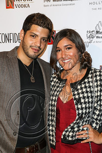 HOLLYWOOD, CA - OCTOBER 08:  Matt Rezaiyan (L) and actress Q'orianka Kilcher arrive at Los Angeles Confidential Magazine Celebrates Their Men's Issue Cover Party with Dennis Quaid at The Residences At W Hollywood on October 8, 2012 in Hollywood, California.  (Photo by Chelsea Lauren/WireImage)