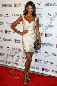 HOLLYWOOD, CA - OCTOBER 08:  Actress Judi Shekoni arrives at Los Angeles Confidential Magazine Celebrates Their Men's Issue Cover Party with Dennis Quaid at The Residences At W Hollywood on October 8, 2012 in Hollywood, California.  (Photo by Chelsea Lauren/WireImage)