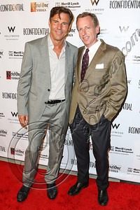 HOLLYWOOD, CA - OCTOBER 08:  Actor Dennis Quaid (L) and Editor in Chief Los Angeles Confidential Magazine Spencer Beck arrive at Los Angeles Confidential Magazine Celebrates Their Men's Issue Cover Party with Dennis Quaid at The Residences At W Hollywood on October 8, 2012 in Hollywood, California.  (Photo by Chelsea Lauren/WireImage)