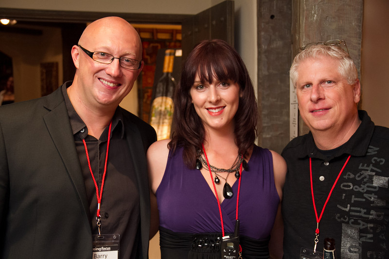 Barry  Oosterwaal, Rebecca Beck, Steve Severance (left to right)
