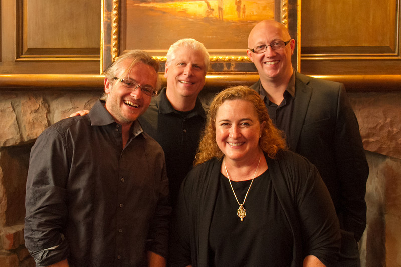 Jeff Rowland, Steve Severance, Cara Pollard, and Barry Oosterwaal (left to right)