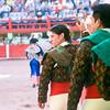 Forcados mazatlecos heading out into the ring
