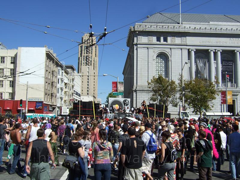 At the love festival at Civic Center, San Francisco.